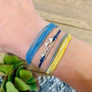 Pura Vida Bracelet Set if 3 Mountain Charm